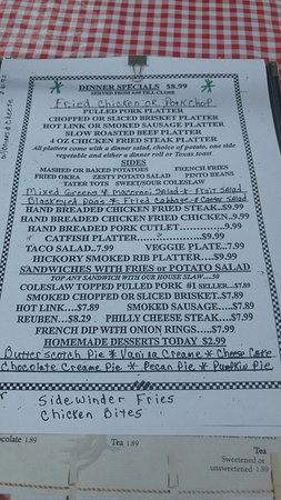 Madill, OK: Country Kitchen menu, specials