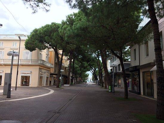 Riccione, Italië: Центральная пешеходная улица Риччоне
