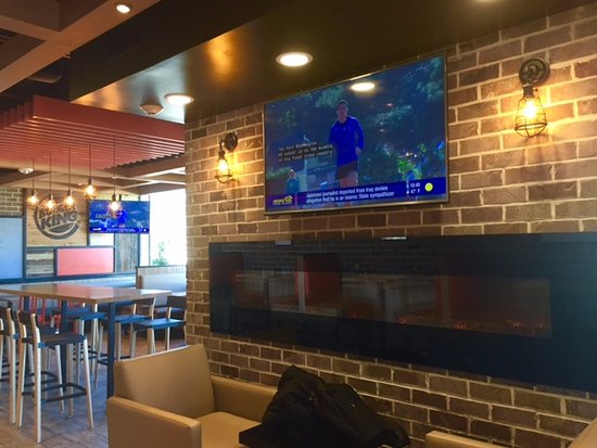 Oceanside, NY: How many Burger Kings do you know have fireplaces and TV?