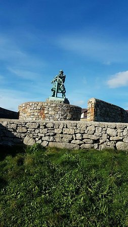 One of the monuments to the bravery of the lifeboat men of Moelfre