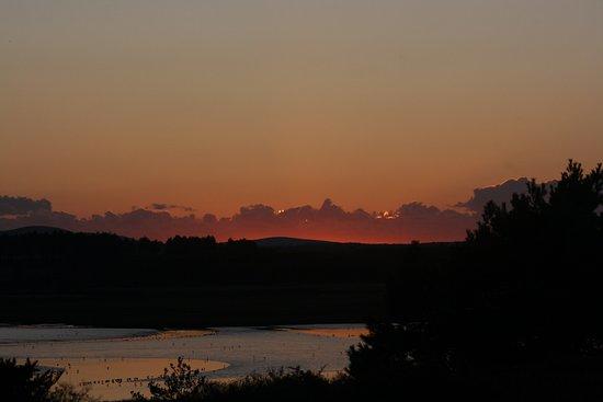 Arne, UK: Sunset from Coombe Heath