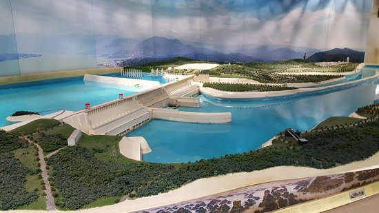 Yichang, China: Model of Three Gorges Dam
