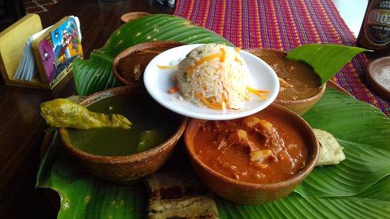 Arrin Cuan: O prato com pequenas porções da comida Guate.