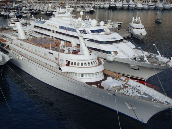Lady Moura Yacht Picture Of Monte Carlo Harbor Monte Carlo