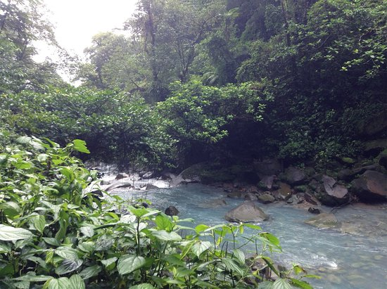 Tenorio Volcano National Park, Costa Rica: Rio Celeste Waterfall