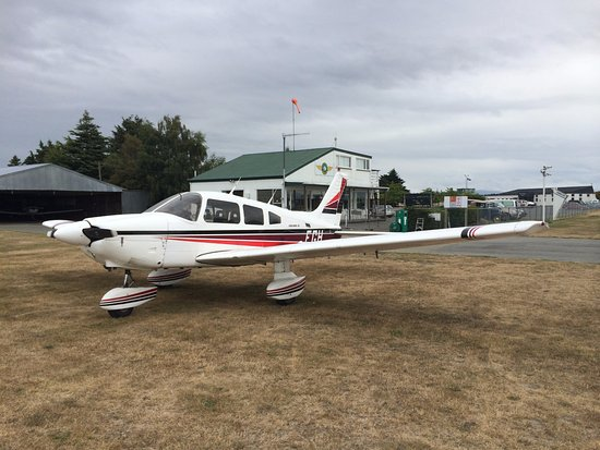 Timaru, New Zealand: Our 4 seater Piper Archer 'FGH'