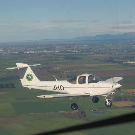 Timaru, New Zealand: Our mighty Trainer the Piper Tomahawk 'JHO'