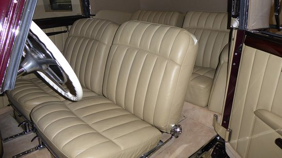 Franschhoek, South Africa: Interior of the Mercedes-Benz given to King Farouk of Egypt by Adolf Hitler