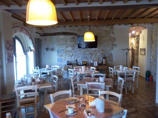Serre di Rapolano, Italien: Sala per la colazione