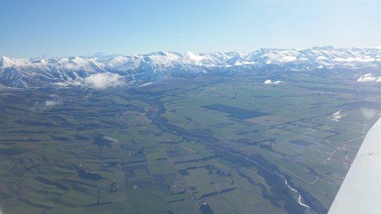 Timaru, Selandia Baru: Views from the South Canterbury plains towards the mountains