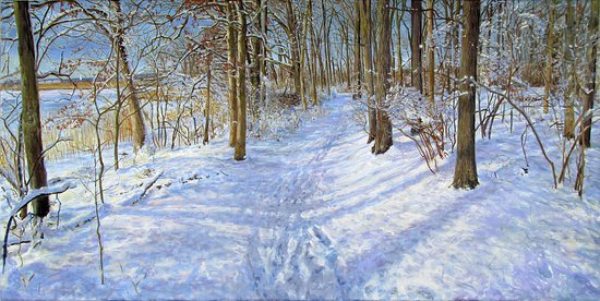 "Essex, CT: Nathaniel Foote, ""Watchrock,"" oil on canvas"
