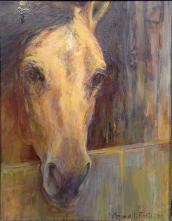 """Essex, CT: Anna P. Foote, """"When Are You Coming Back?"""" oil on canvas"""