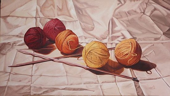 "Essex, CT: Merrill French, ""Yarn,"" oil on canvas"