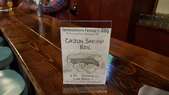 Southwick, MA: Friday Cajun Shrimp Boil