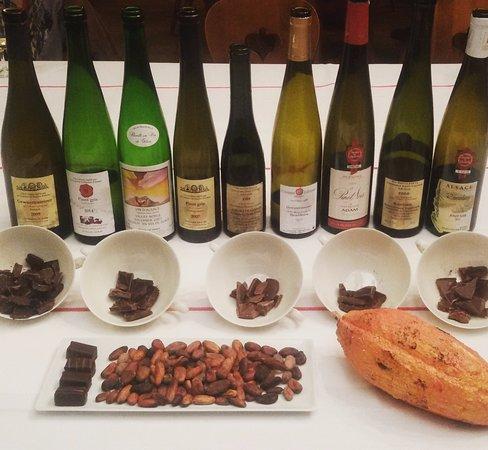 Kientzheim, Francja: Soirée vins d'alsace et chocolat