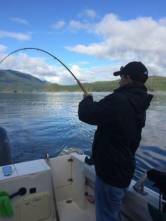 Νησί Quadra, Καναδάς: Fish on!
