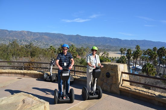 Segway of Santa Barbara: Lookout from University campus - our only good segway photo