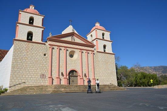 Segway of Santa Barbara: At the Old Mission of Santa Barbara - we're too far away!!