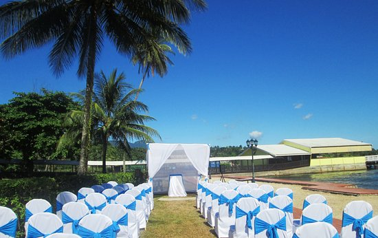 Alotau International Hotel: Wedding set up