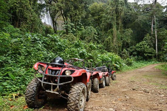 Uvita, Costa Rica: The abandoned ATVs while we hiked to the waterfall.