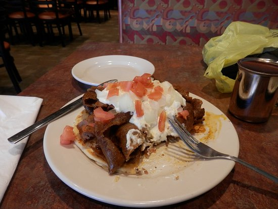 Alliance, OH: The Cajun Gyro as I began my attack on it.