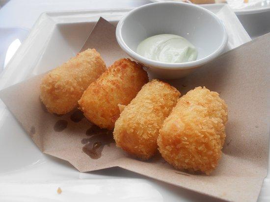 The Brasserie: Potato and shrimp croquettes