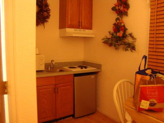 Columbine Inn: kitchenette