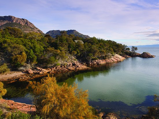 View from Richardson's Bistro and Freycinet Lodge