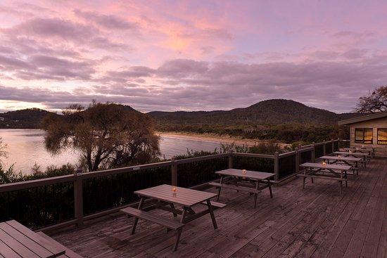 Freycinet, Australien: Richardson't Bistro balcony