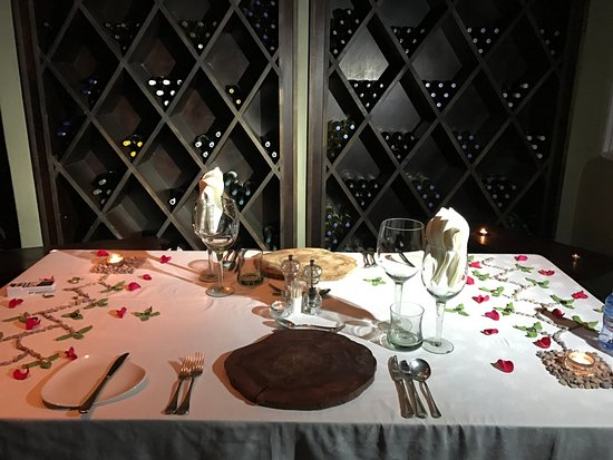 Welgevonden Game Reserve, South Africa: Wine cellar dining