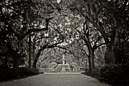 Pretty park in Savannah where the movies Cape Fear and Midnight in