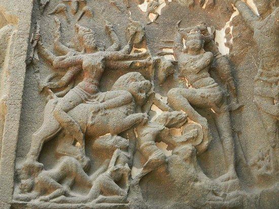 Image result for fresco ellora cave durga