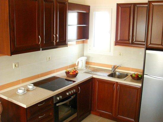Arkassa, กรีซ: Royal Beach Hotel Karpathos - Studio Room Kitchen Area