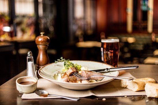 the lion pub zurich bangers mash one of our british classic dishes for