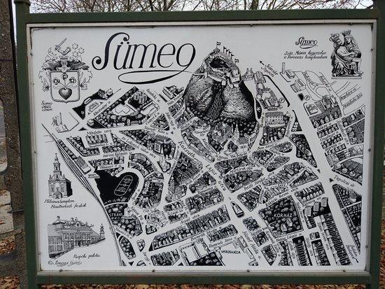 Sumeg, Hungary: Lageplan