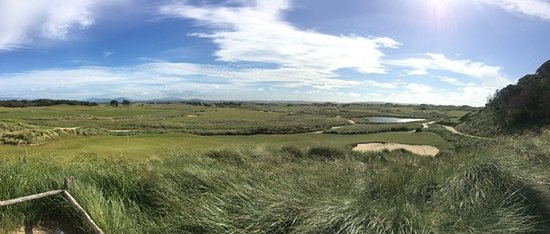 Lost Farm Barnbougle Golf Course: the view from the clubhouse at Lost Farm