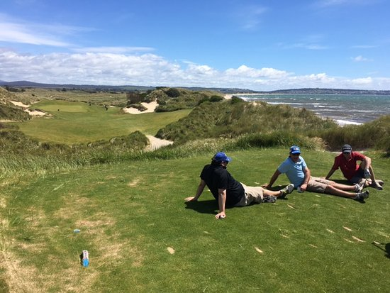 Lost Farm Barnbougle Golf Course: We weren't backed up, just taking it in on the 15th tee.