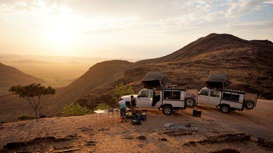 Kunene Region, Namibia: Campen, ohne Luxus über dem Marienfluss