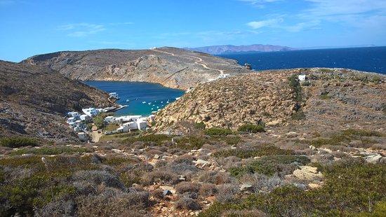 Σίφνος, Ελλάδα: wandeling vertrekt net achter het dorpje