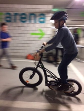 Spreitenbach, Switzerland: The smaller of the two elliptical bikes