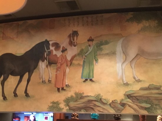 Victor, Estado de Nueva York: PF Chang's - murals above bar