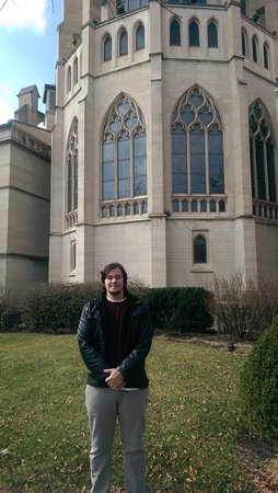 Cathedral Basilica of the Assumption: Myself in back of the Cathedral Basilica