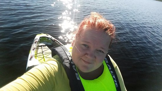 Lappajarvi, Finlandia: This is me, Piia, your guide. Paddling at the biggest craterlake in europe.