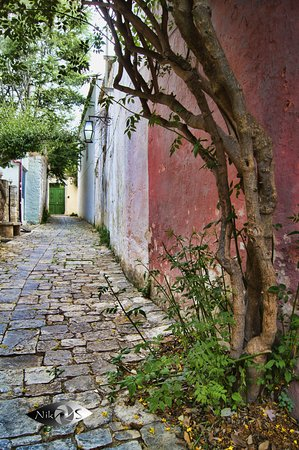 Archanes small traditional alley