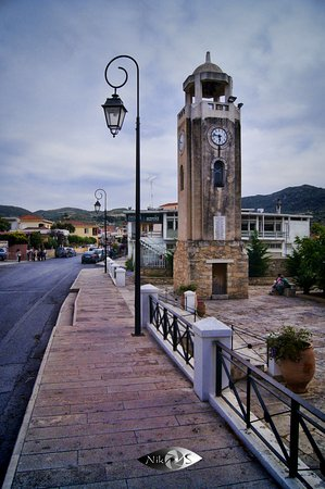 Archanes, Greece: Tower clock