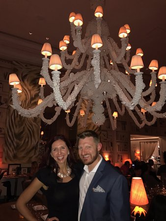 The Bazaar by Jose Andres: Love the seashell chandelier in the center of the restaurant.
