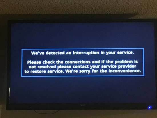 Bayfront Inn: Cable TV outage