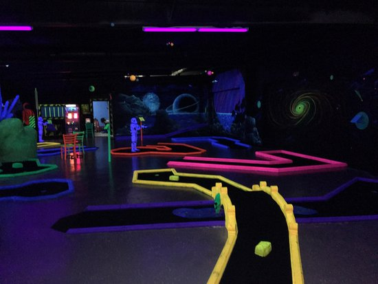 Bay Saint Louis, MS: Black light miniature golf