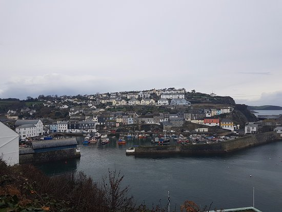 Mevagissey as you arrive on the coastal path from Gorran Haven