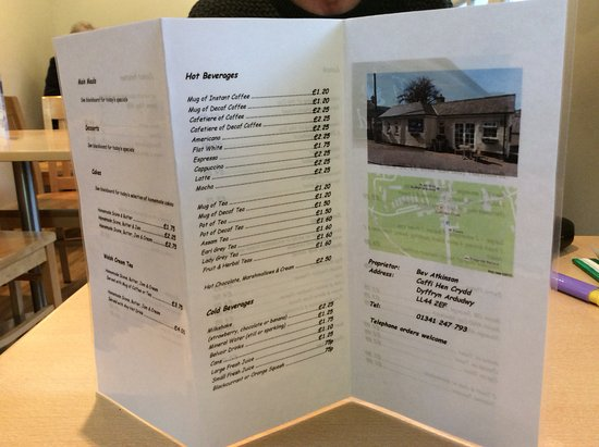 Dyffryn Ardudwy, UK: Home cooked menu - good choice